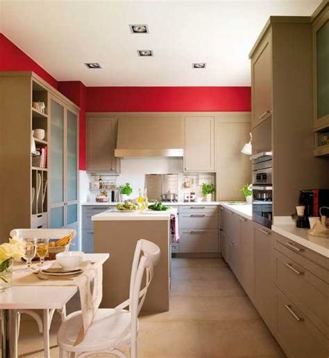 accent wall ideas for kitchen modern kitchen design with bold red accent walls and stainless steel details