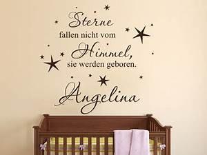 Sterne Vom Himmel : wandtattoo textwunsch wandtattoos mit textwunsch ~ Lizthompson.info Haus und Dekorationen