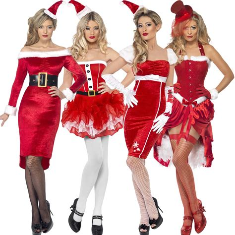 ladies womens new sexy christmas santa girl pinup fancy