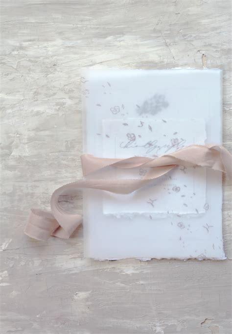 ethereal vellum wedding invitations