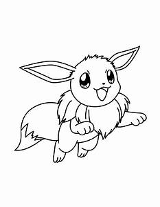 Eevee And Pikachu Coloring Pages Coloring Pages