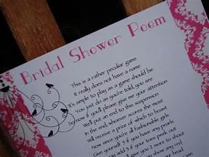 bridal shower ideas fantastic bridal shower poems With wedding shower poems