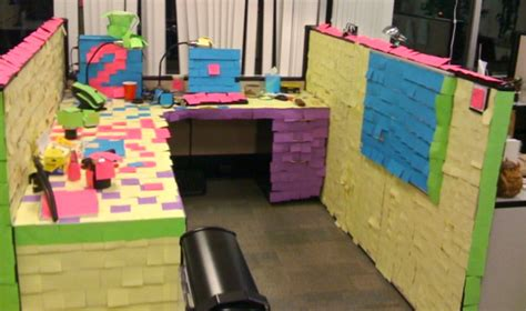 outrageous cubicle birthday decorations outrageous office pranks now that s nifty