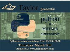 Dispuut Taylor Python workshop 17032016
