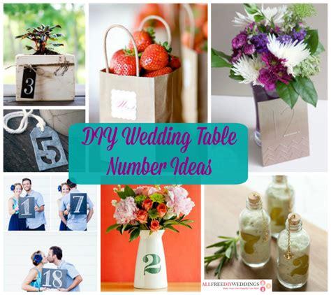 26 Diy Wedding Table Number Ideas