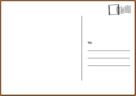 postcard template postcard template word with regard to free postcard