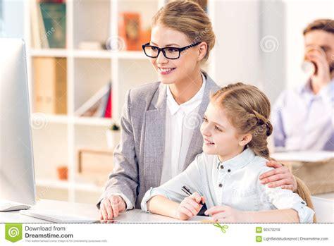 Mother Hugging Daughter Royalty-free Stock Image