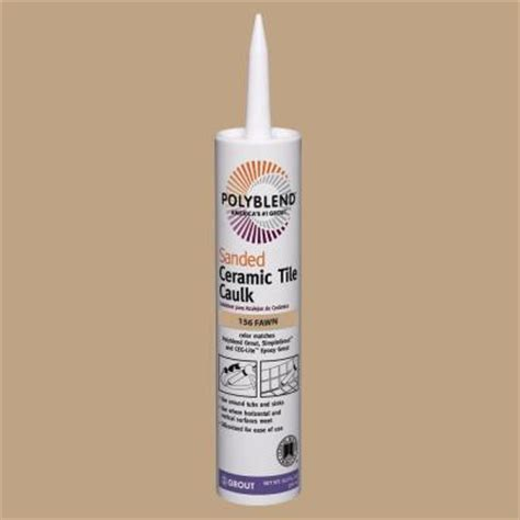 custom building products polyblend 156 fawn 10 5 oz sanded ceramic tile caulk pc15610s the