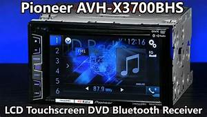 Pioneer Avh-x3700bhs Double Din Bluetooth Dvd Radio - 6 2 U0026quot  Touchscreen