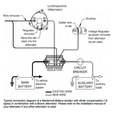 3 Wire 140 Alternator Wiring Diagram by Mastervolt Bi 702 S 70a 12v 24v Heavy Duty Batterie