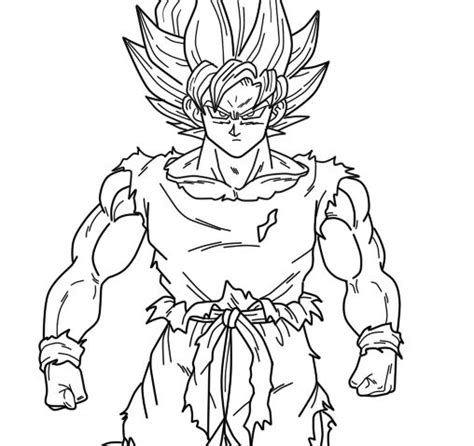 super saiyan goku coloring pages goku saiyan super
