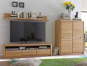 Wohnwand Eiche Bianco Massiv Good Mca Furniture Wohnwand