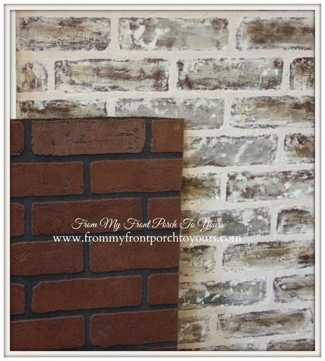 how to paint bricks on a wall from my front porch to yours diy faux brick wall tutorial using chalk paint