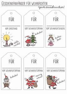 Geschenkkarten Zum Ausdrucken Kostenlos : freebie geschenkanh nger f r weihnachten handmade kultur ~ Buech-reservation.com Haus und Dekorationen