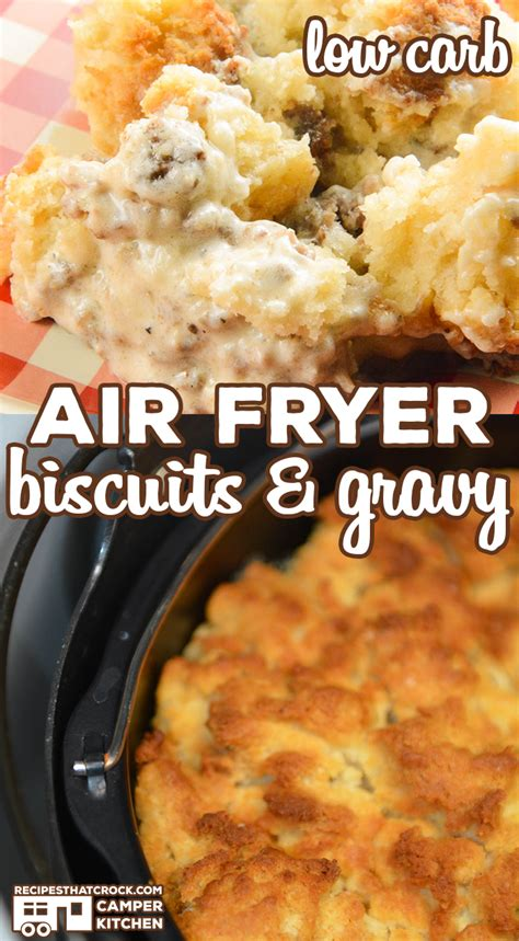 fryer biscuits air gravy carb low recipe recipes crock notes pot breakfast