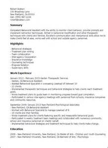 Behavior Therapist Resume by Professional Behavioral Assistant Templates To Showcase