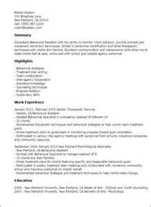 behavior therapist resume objective professional behavioral assistant templates to showcase