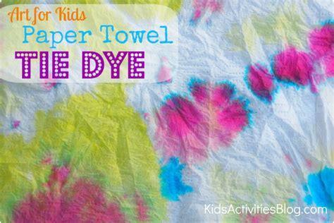 art  kids food coloring tie dye