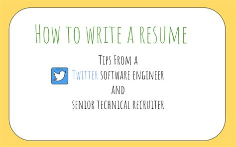 How To Write A Great Resume by How To Write A Great Resume For Software Engineers