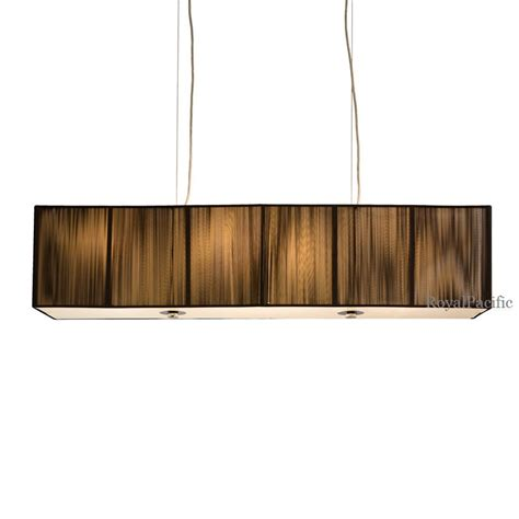 4 l 40 quot rectangular shade chandelier pendant lighting