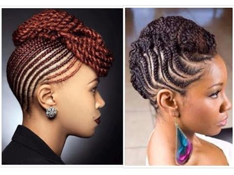 natural classy braided  twisted updo youtube