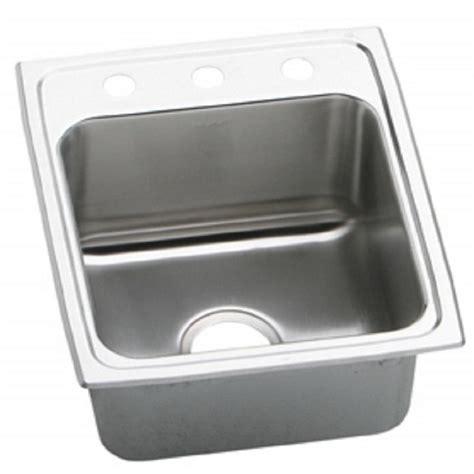 wall kitchen sink elkay lustertone drop in stainless steel 17 in 3 6930