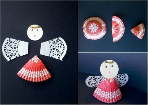 basteln mit muffinförmchen 13 einfache ideen wie sie niedliche engel basteln mit kindern
