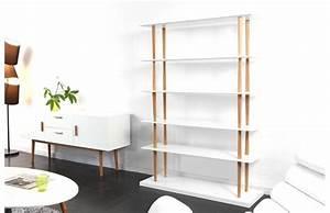 Bibliothèque Design Bois : biblioth que miliboo biblioth que design gilda bois ~ Teatrodelosmanantiales.com Idées de Décoration