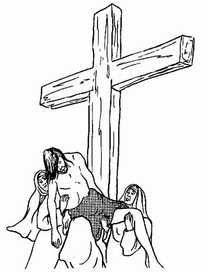 Coloring Christian Pages Printable Jesus Cross Religious