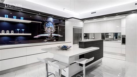 Sleek Contemporary Entertainers' Kitchen With Separate