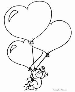 3 Valentine Ballon Hearts Coloring Pages >> Disney ...