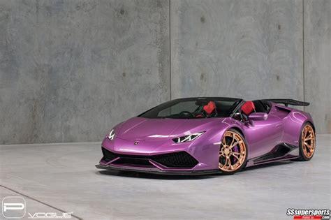lamborghini purple 2017 4 purple lamborghini huracan spyder gold rose pur wheels