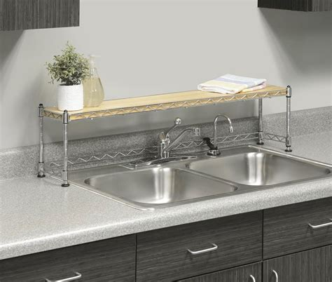 Kitchen Shelf Over Sink Rack Stand Steel Storage Shelves