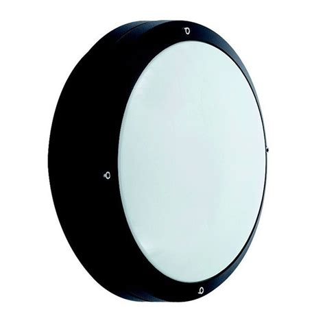 ansell canto cfl black wall light with emergency battery