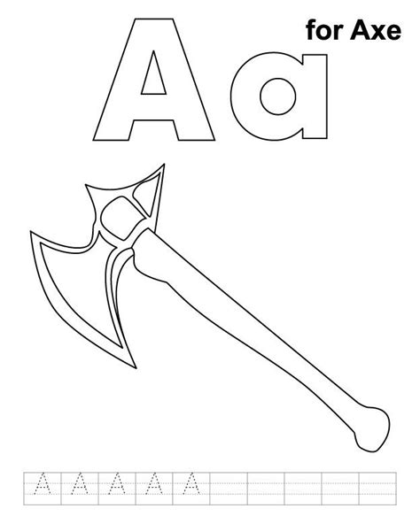 axe clipart colouring page axe colouring page transparent     webstockreview