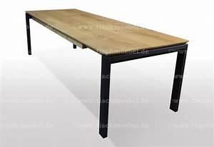 Tisch 80 X 120 Ausziehbar : tisch wildeiche massiv ausziehbar 120 x 80 cm schwarzstahl ~ Bigdaddyawards.com Haus und Dekorationen