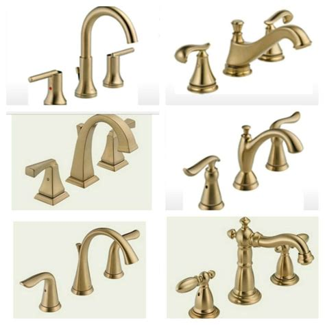 Delta Fixtures Bathroom by Delta Faucet Options In Chagne Bronze Small
