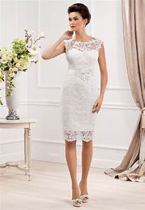 new designer elegant scoop neckline sheath lace short With elegant short wedding dresses