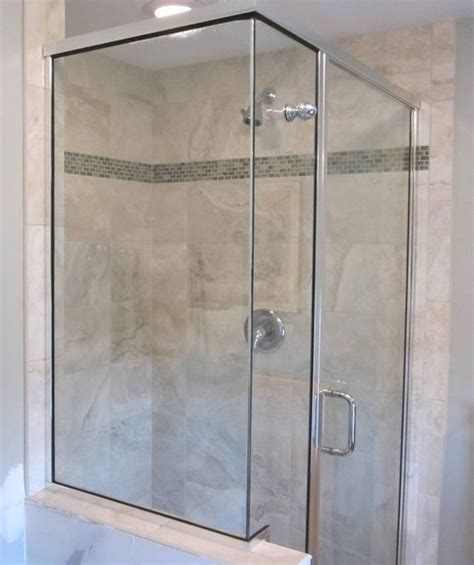 accent glass nc shower enclosure w glass accent contemporary bathroom 3970