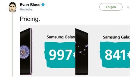samsung galaxy s9 preis fast so teuer wie das iphone x samsung galaxy s9 kosten