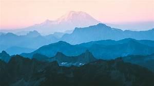 Cascade, Range, Wallpaper, 4k, Mountain, Range, Foggy, Morning