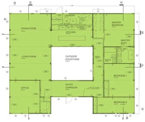central courtyard house plans house plans with central courtyard house design plans