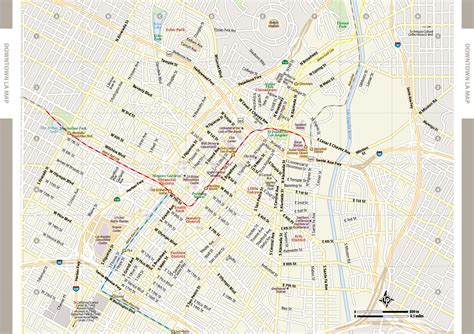 large los angeles maps     print high