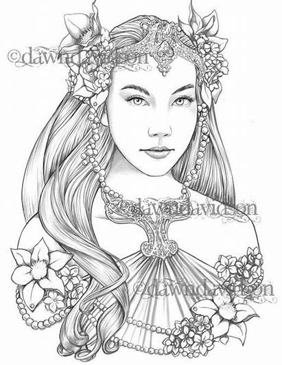 Coloring Queen Elves Pages Adults Colouring Printable