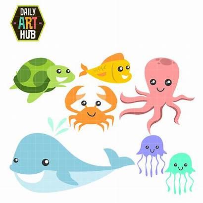 Sea Creatures Clip Animals