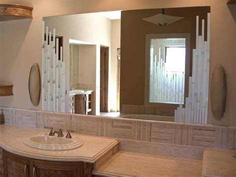 Bathroom Mirrors Etched Glass