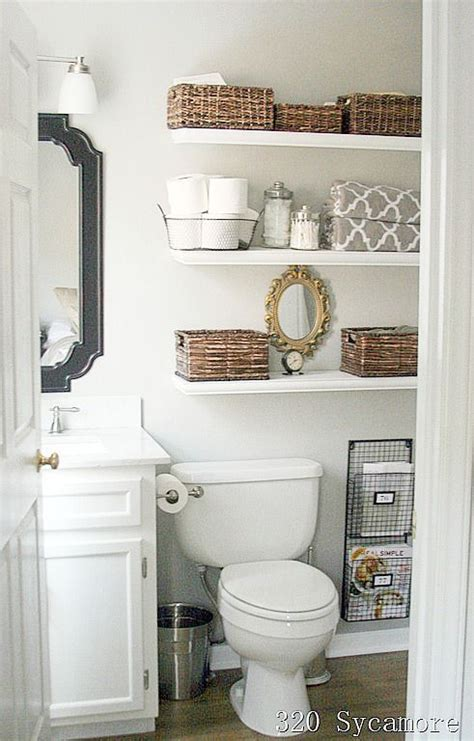 ideas for bathroom shelves 11 small bathroom organization ideas for the home