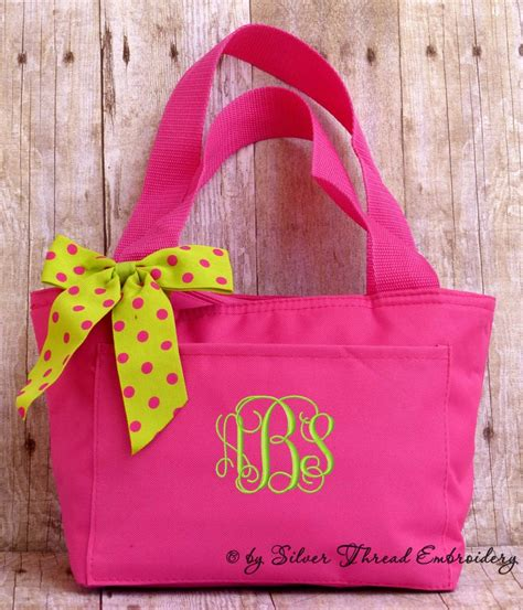 personalized lunch bag polka dots insulated monogrammed
