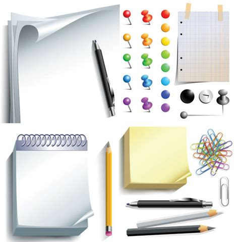 Office Supplies Vector by Office Supplies Document Paper Design Free