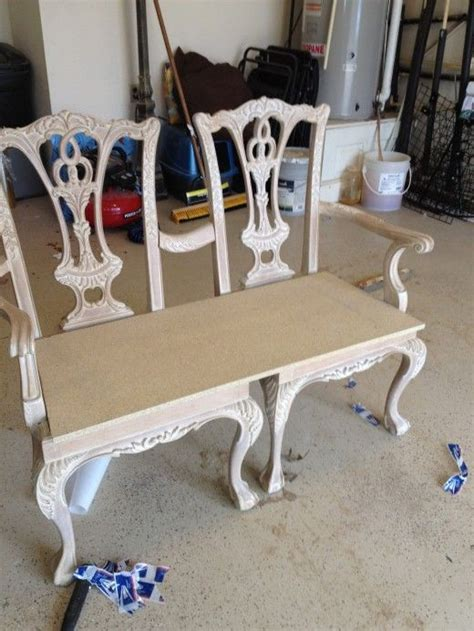 How To Make A Settee by How To Make A Bench From Two Chippendale Chairs Dy